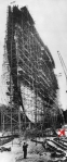 Construction of the TS 'Queen Mary', Clydebank, Scotland, 1936.