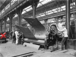 Bending a firebox in the boiler shop at Horwich works, 1919