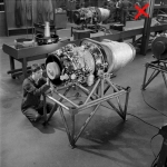 Constructing Viper jet engines at Bristol Siddeley, 1959.